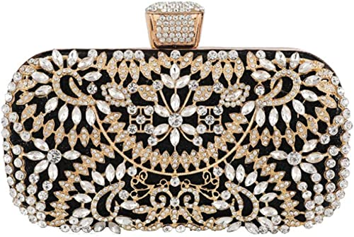 New Look Bling Silver Diamante Clasp Two Eyes Diamonds Clutch Party Bridal Prom