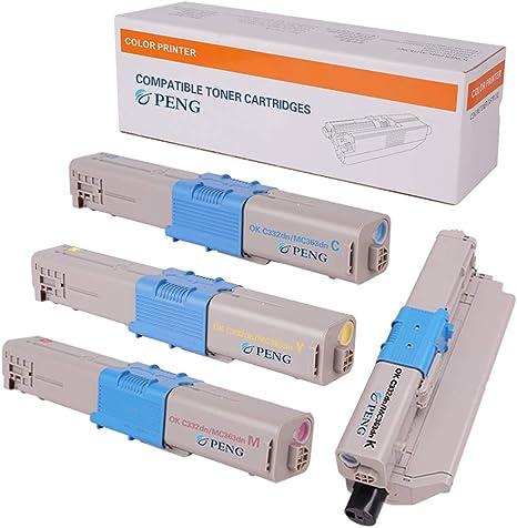 5 Pack Compatible Color Toner for Okidata OKI C332dn C332 MC363dn MC363 46508704
