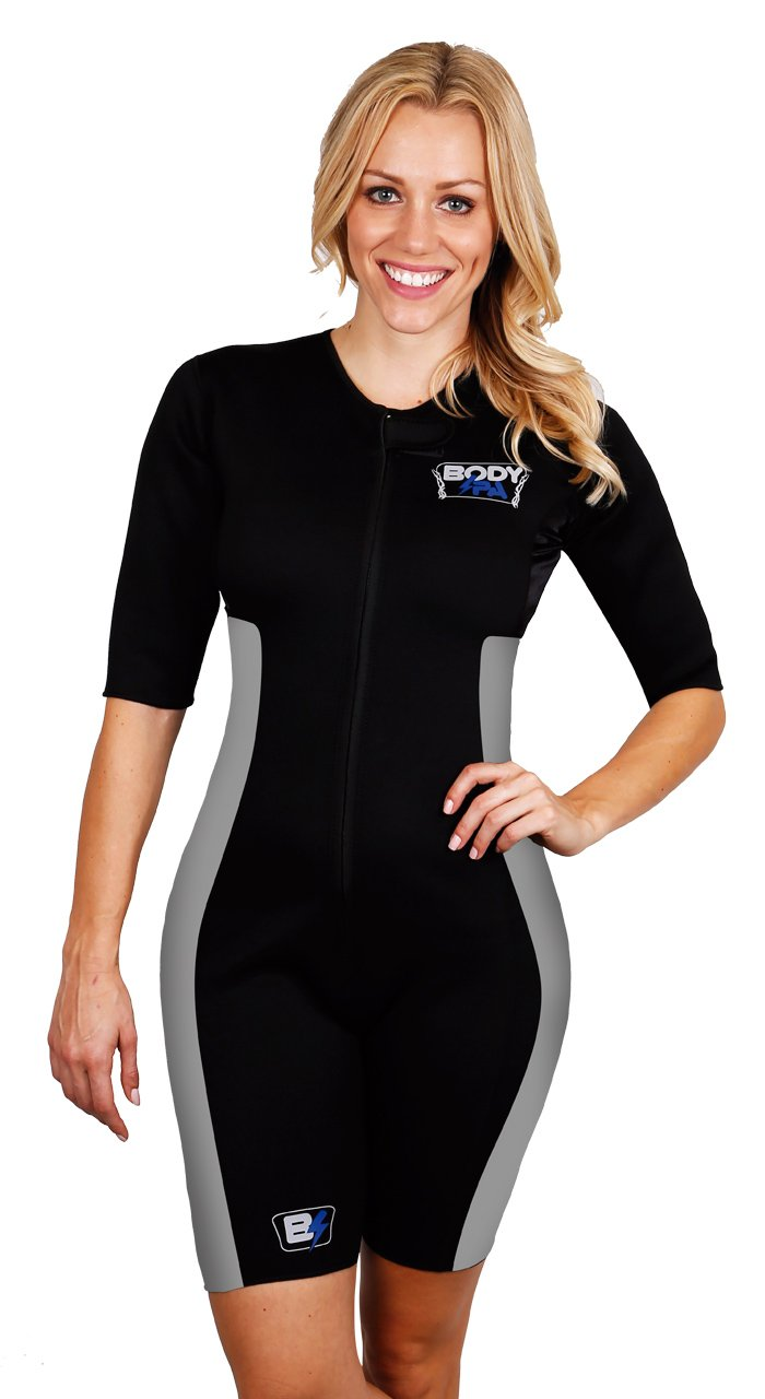 Sauna Suit Neoprene Weight Loss Gym Sport Aerobic Boxing MMA (Grey, Small) 13930