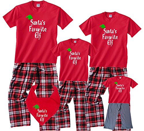 d709e829ab Amazon.com  Santa s Favorite Elf Matching Family Holiday Christmas Pajamas    Kids Playwear  Clothing