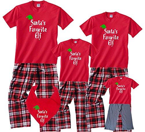 c316e38e4 Amazon.com  Santa s Favorite Elf Matching Family Holiday Christmas ...
