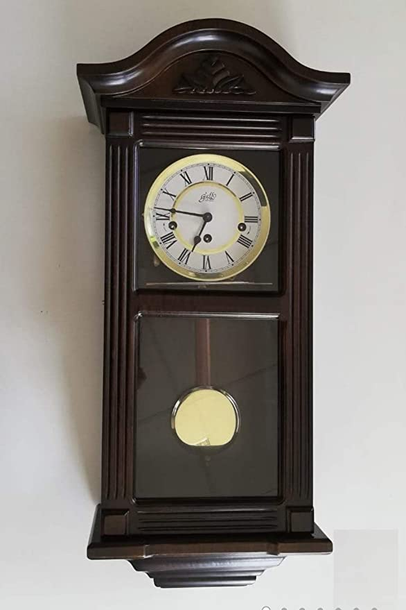 Gallo 0216EDIN50710 Regulator - Reloj de Pared clásico (Madera de Nogal)