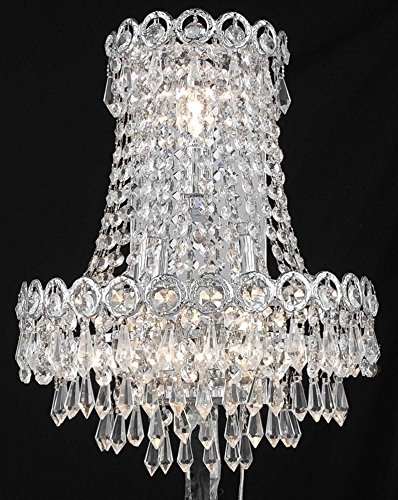 (Elegant Lighting Century Collection 3-Light Wall Sconce with Neck and Elegant Cut Crystals, Chrome)