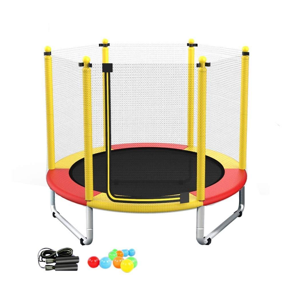 安全網、家の屋内跳ね上がりのベッドの適性家族のおもちゃの跳躍のベッドが付いているトランポリン (Color : 赤) 赤