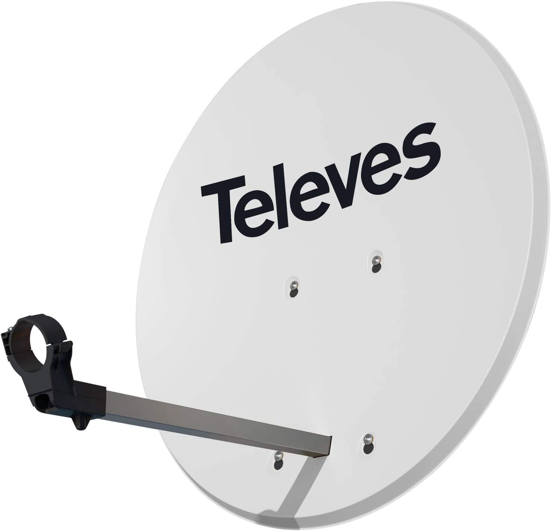 Antena Parabólica Offset Isd Televes 830 Aluminio Blanca ...