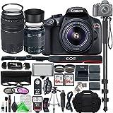 Canon EOS Rebel T6 Digital SLR Camera with 18-55mm EF-S f/3.5-5.6 IS II Lens & EF 75-300mm f/4-5.6 III Lens + Ultimate Platinum Bundle