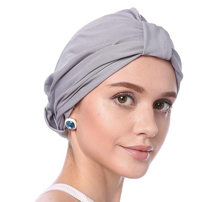 Ibelly Damen Turban Haarausfall Krebs Chemotherapie Kappe Muslime