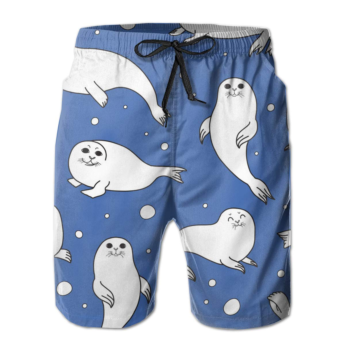 Fancy Illusion Sea Lion Animal Casual Boys Mens Shorts Swim Trunks Boardshorts for Men