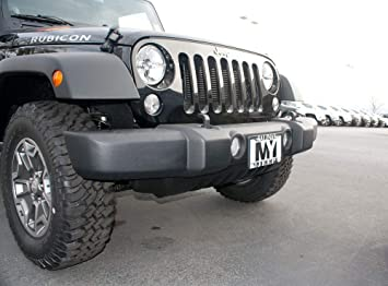 Jeep Wrangler Front License Plate Mount