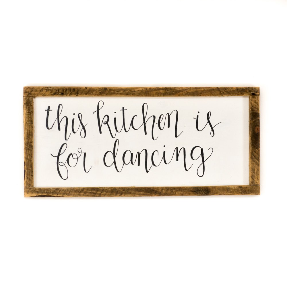 Rustic Kitchen sign Framed kitchen sign This kitchen is for dancing Rustic kitchen decor Wood kitchen sign Wood wall decor Framed wood signs