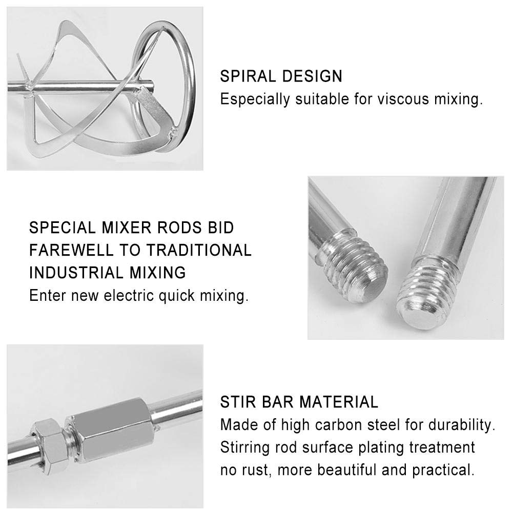 Plaster Paint Wind-Susu Spiral Mixer Mortar Mixing Whisk with SDS Threading Insert Cement Concrete