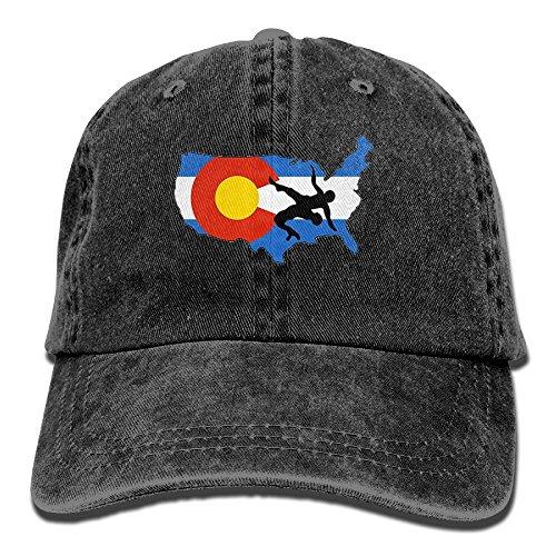 KIOJIANM USA Wrestling Unisex Baseball Caps Cool Snapback Hats Funny Trucker Hats Unique Denim Cap by KIOJIANM
