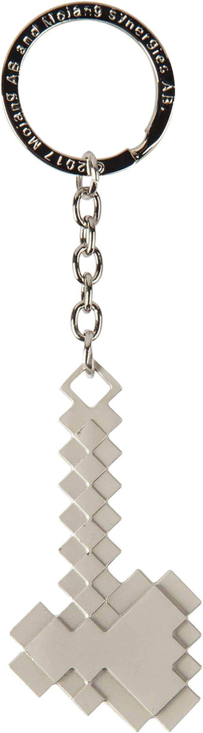 Amazon.com: JINX Minecraft Axe 11D Metal Key Chain, Metallic, One