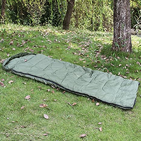 Color Verde Oliva Mivall Defender Saco de Dormir Estilo ej/ército