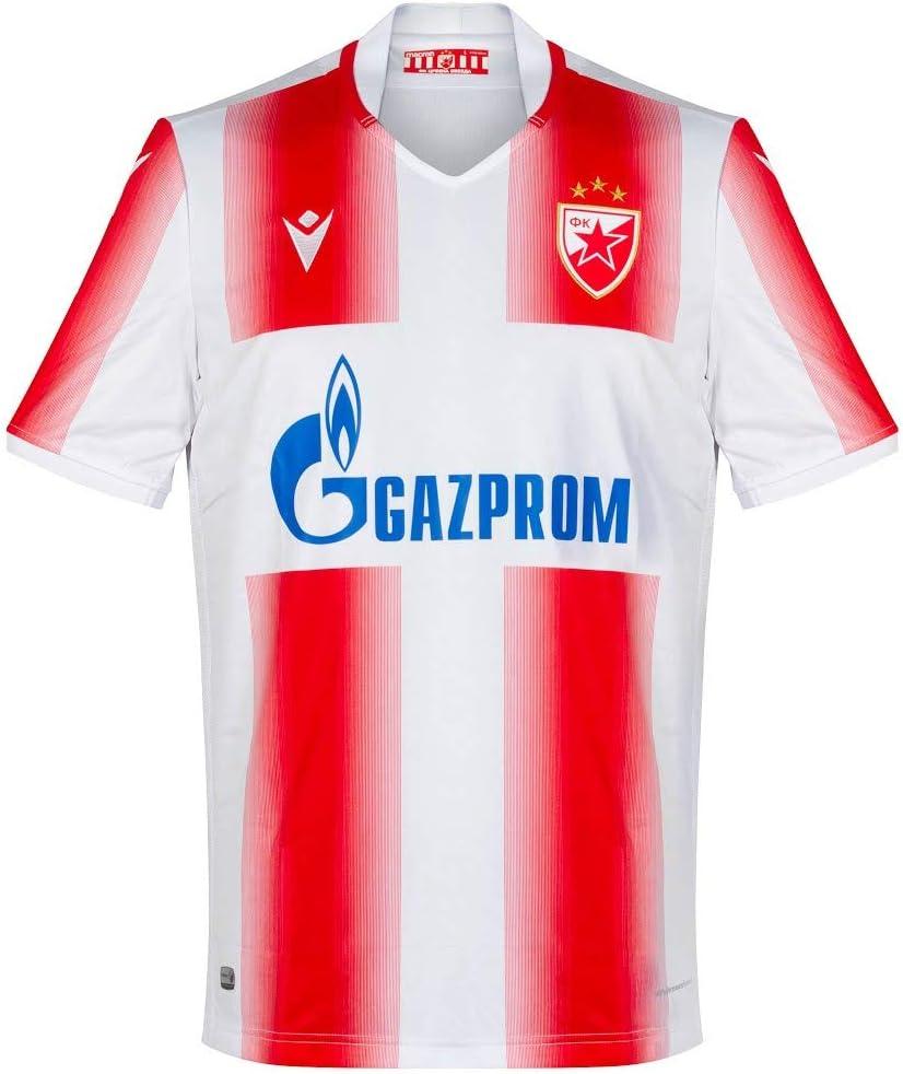 Amazon Com Macron Red Star Belgrade Home Champions League Jersey 2019 2020 Eu L Uk Us Size M Sports Outdoors