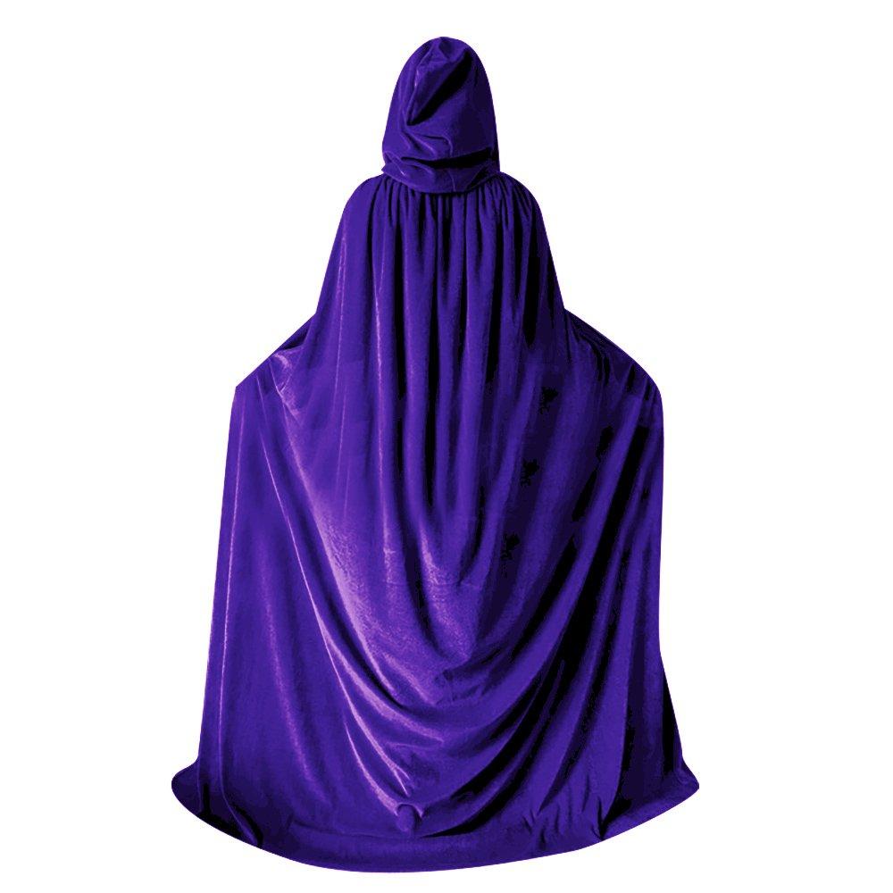 QBSM Women Men Purple Halloween Velvet Cloak