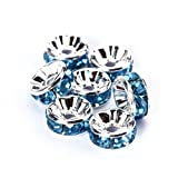 BRCbeads 6mm Silver Plated Crystal Rondelle Spacer