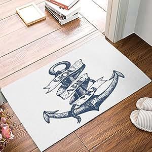 wwoman Moda Decorativa Puerta Alfombra Alfombra Vintage Poppy Flor Arte Pintura Interior/Exterior/Piso Doormate 16 x 24.40 cm x 60 cm