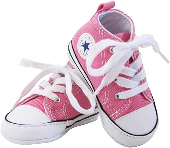 Converse Baskets All Star Toile Rose bébé Fille
