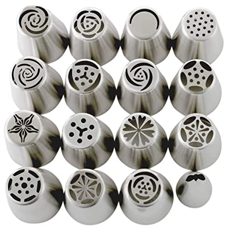 Amazon.com: Juego de puntas rusas (29 piezas) 15 boquillas ...