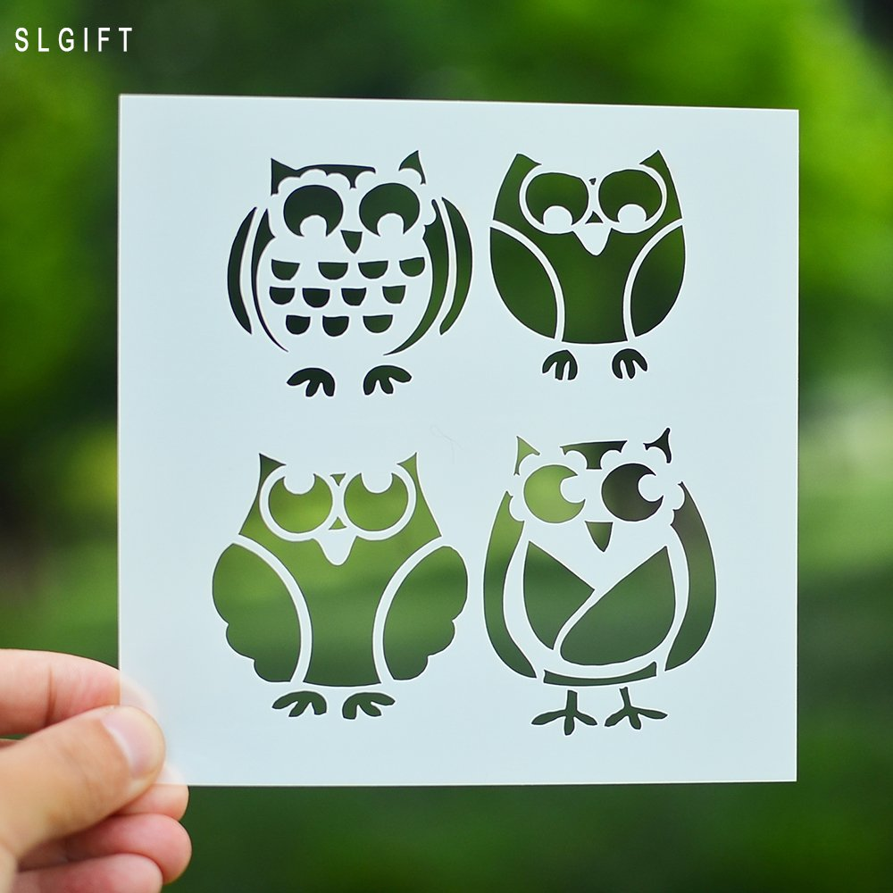 DIY Stencil for Scrapbooking Cardmaking Painting,Owl by SLGIFT (Image #1)