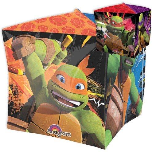 [LoonBallon 15 Inch Cubez Teenage Mutant Ninja Turtles Balloon, Geometric, 5 Pieces] (Ninja Turtle Face Painting)