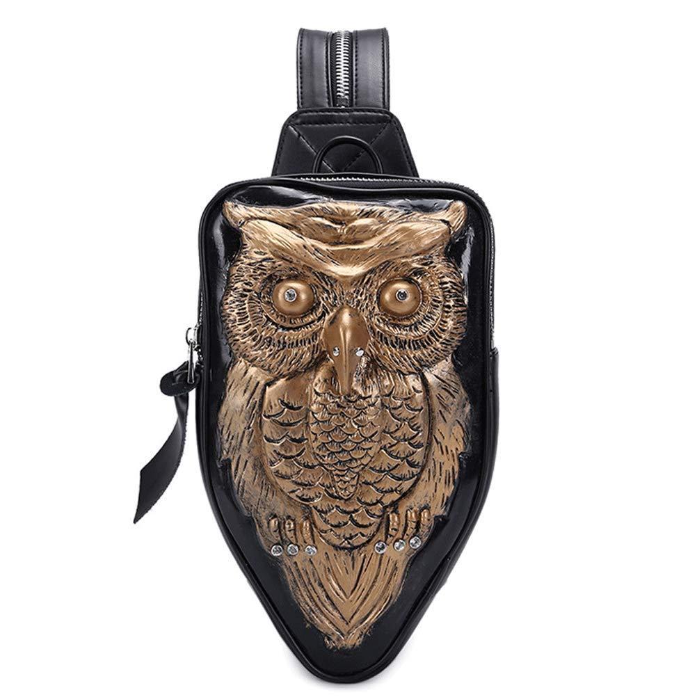 gold B&W 3Dg&G 00328 Cartoon Lightweight Leisure Backpack Rucksack School Student Travel Bags 3D Animals Print Unisex For School Cosplay Rucksack 100% Black Owl High Quality Pu