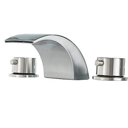 Amazon.com: Era - Grifo para lavabo de baño (cascada, 3 ...
