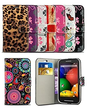 London Gadget Store Stylish Pattern Modern Print Design Wallet Flip Case Cover With Integrated Stand For
