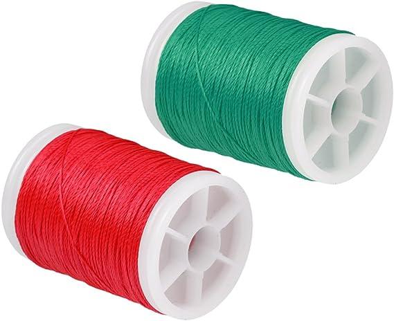 2 Pezzi Fibra Corde di Archi Bow String Serving Filo 110m Rosso Verde