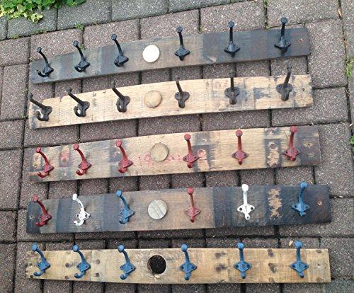 Kentucky Bourbon Barrel Stave Hook Rack, free shipping (Barrel Stave Furniture)