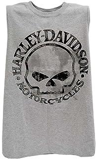 683f896d574d28 Harley-Davidson Men s Willie G Skull Muscle Tank Top Sleeveless Tee  30296650 Sport Gray