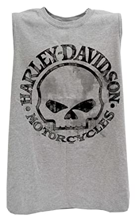 5f9c95b2a43352 Harley-Davidson Men s Willie G Skull Muscle Tank Top Sleeveless Tee  30296650 (M)