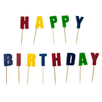 Image Unavailable Not Available For Color GAO Happy Birthday Letter Candles