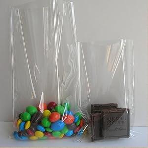100x Super Clear Flat Cello/cellophane Treat Bag 6x8 Inch(1.2mil)
