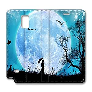 Brian114 Samsung Galaxy Note 4 Case, Note 4 Case - Samsung Note 4 Protective and Light Carrying Cover Beautiful Scenario Non-Slip Leather Case for Samsung Galaxy Note 4