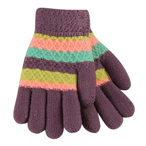 Sunenjoy Enfants 5-doigts Gants Thermiques Hiver en Laine Tricotée Cerf  Dessin Animé Bébé Filles Garçons Doigt Complet Mitaines Épaissi Chaud  Mignon pour ... c9216b89a32