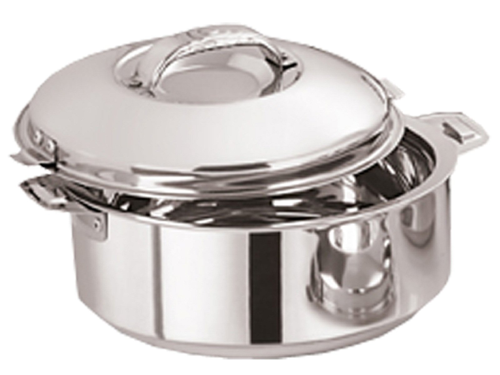 Kuber Industries Casserole/HotPot,chapati box/chapati container/hot case in Stainless Steel 3500 ML (Cass33)