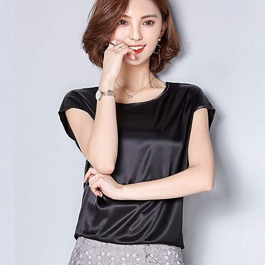 KCMCY Blusas Blusas De Mujer Blusa De Seda Primavera Otoño Camisa Suelta Tops Camisas Damas, M: Amazon.es: Hogar