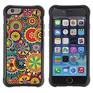 "Pulsar iFace Series Tpu silicona Carcasa Funda Case para Apple (4.7 inches!!!) iPhone 6 , Diseño floral del papel pintado Arte Blooming colorido"""
