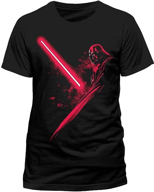 I-D-C CID Star Wars - Vader Shadow-Camiseta Hombre