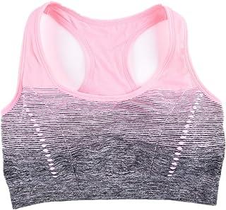 Fengbingl Soutien-Gorge de Sport pour Femme Soutien-Gorge de Sport Haute résistance aux Chocs Yoga Fitness Fitness sous-vêtements de Sport sans Soutien-Gorge en Acier (Couleur : Rose, Taille : S)