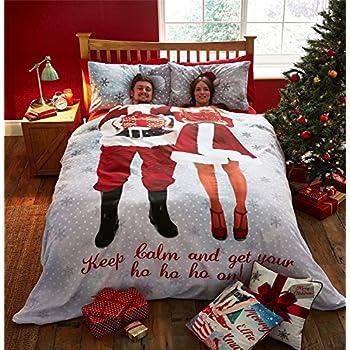 Amazon Com Christmas Mr Amp Mrs Santa Claus Snowflakes Red