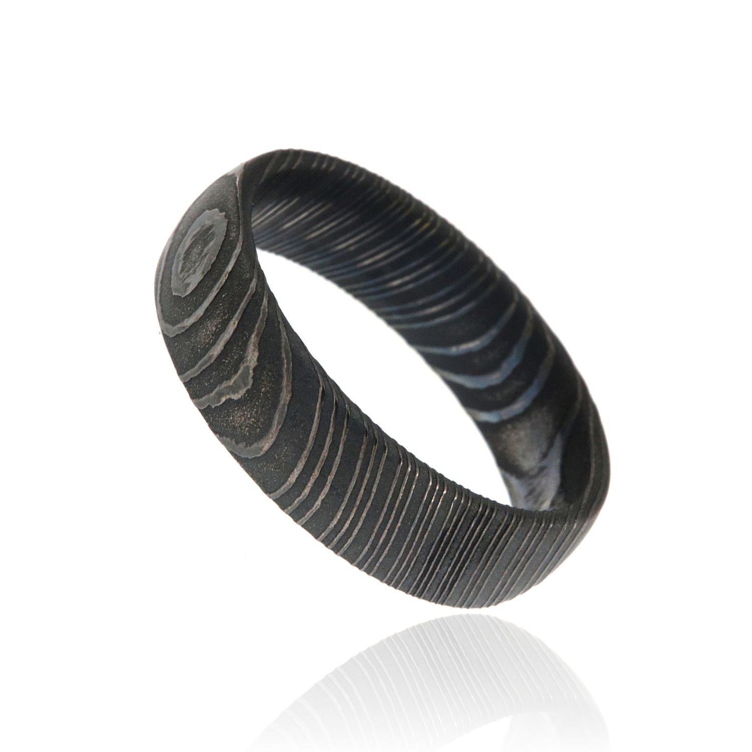 The Jewelry Source Damascus Steel Wedding Ring USA Made Damascus ...