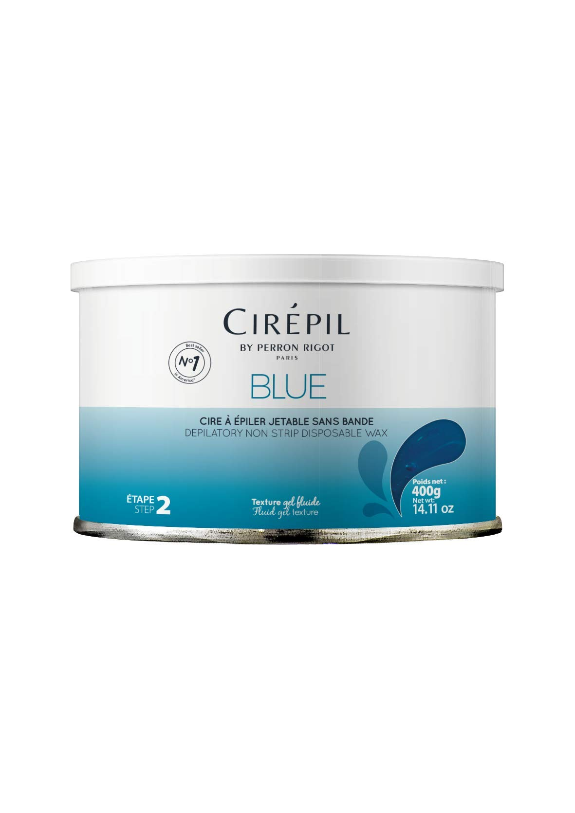 Cirepil The Original Blue Wax by Perron Rigot - Tin, 400g/14.11 oz. Solid Wax NOT Beads