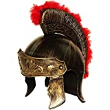 Toy Cubby Realistic Roman Soldier Helmet - Gladiator Legion Gold Royal Hat Knight Costume.