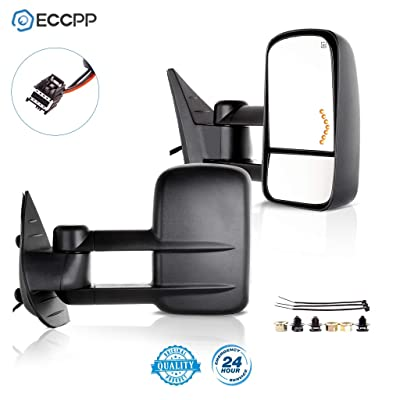 ECCPP Towing Mirrors Replacement fit for 2008-2013 Chevy Avalanche Tahoe Silverado Suburban GMC Sierra 1500 Yukon Power Heated Arrow Signal Towing Mirrors: Automotive