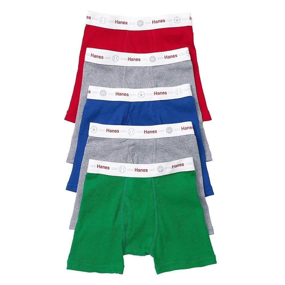 Hanes Toddler Boys Boxer Waistband Briefs 5-Pack