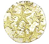Sea Star Dessert Plate Mirror Gold, 8.5-Inch (Set of 2)