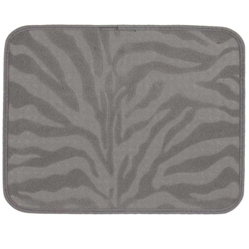 Grey Zebra Animal Print Compressed Style Car Truck SUV Front /& Rear Seat Carpet Floor Mats 4PC